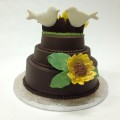 Love Birds Chocolate Smash Cake